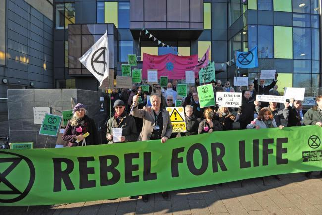 Wiltshire Council declared a climate emergency last March following protests- now Trowbridge Town Council hopes to follow suit Photo: Trevor Porter