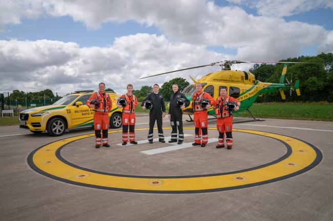 The Wiltshire Air Ambulance team