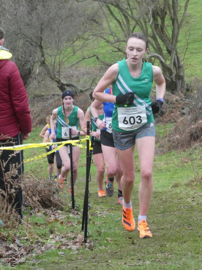 Gemma Knudsen (pictured) starred in company with Alice Murray-Gourlay, Bethan Francis and Emma Hines in the South West Cross Country Championships
