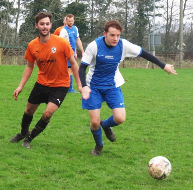 Action from the KO Cup fixture between Semington and FC Lacock. PHOTO: Cader Esoof.