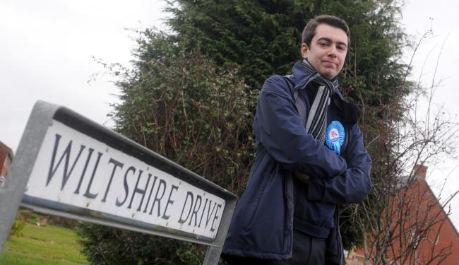 Antonio Piazza, the new Conservative councillor for Drynham Ward, also objects to the Elm Grove access proposals Photo: Siobhan Boyle SMB2882/1