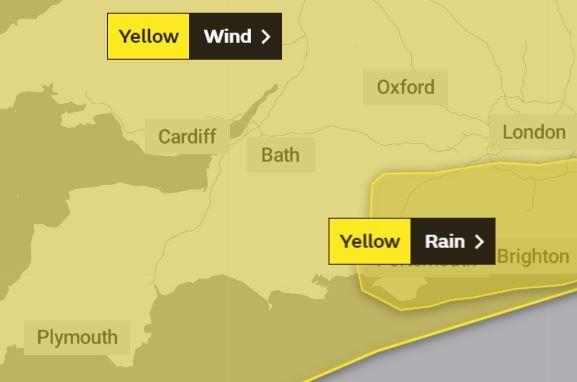 Swidnon and Wiltshire are covered by the weather alert for wind
