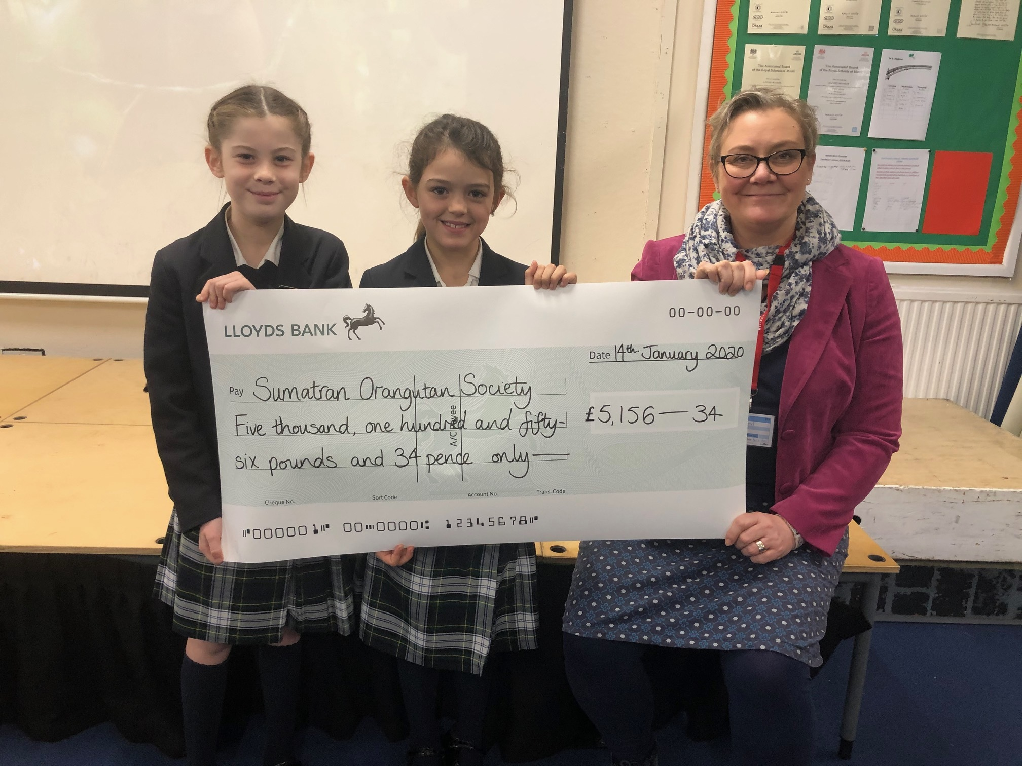 They raised over £4,000 for the Sumatran Orangutan Society