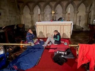 Daisy and Nina during the church sleepout