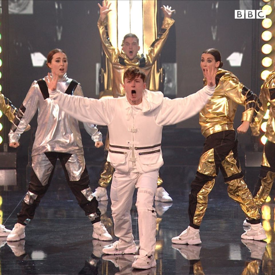 The Dark Angels team were voted through in BBC's The Greatest Dancer first live show