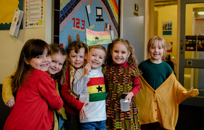 Pupils enjoy Ghana themed day at Langley Fitzurse School