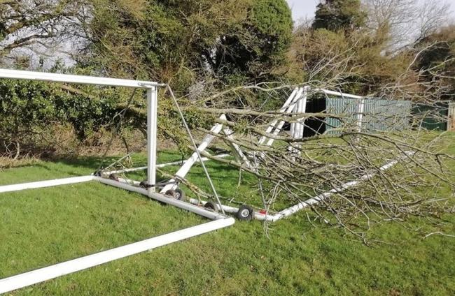 Storm Ciara damaged football goals