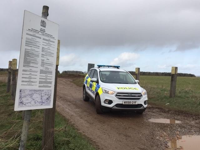 Police have increased patrols on Salisbury Plain around Chitterne and Shrewton
