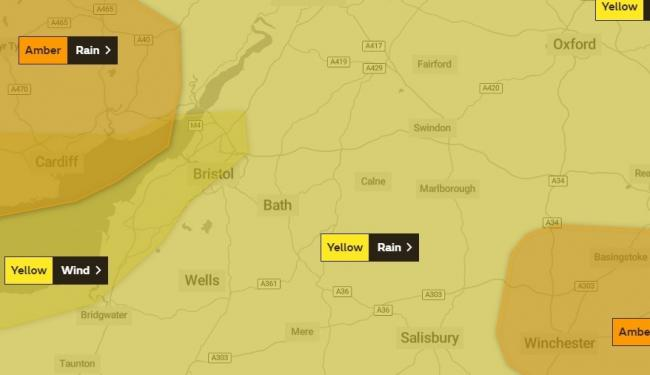 STORM DENNIS: Yellow weather warning still in place for high winds - but rain will move away this afternoon
