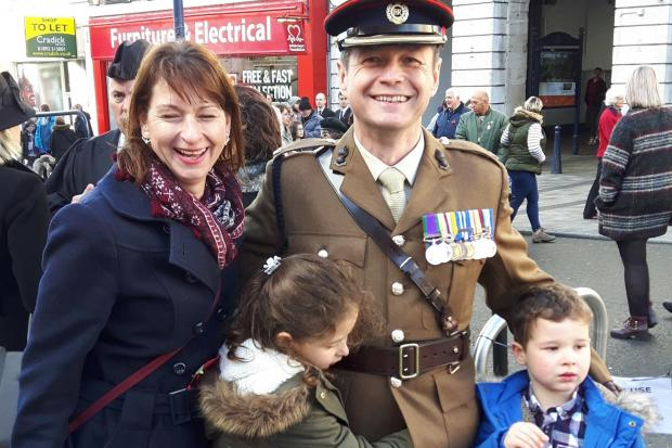 Lt Col George Drysdale with his family