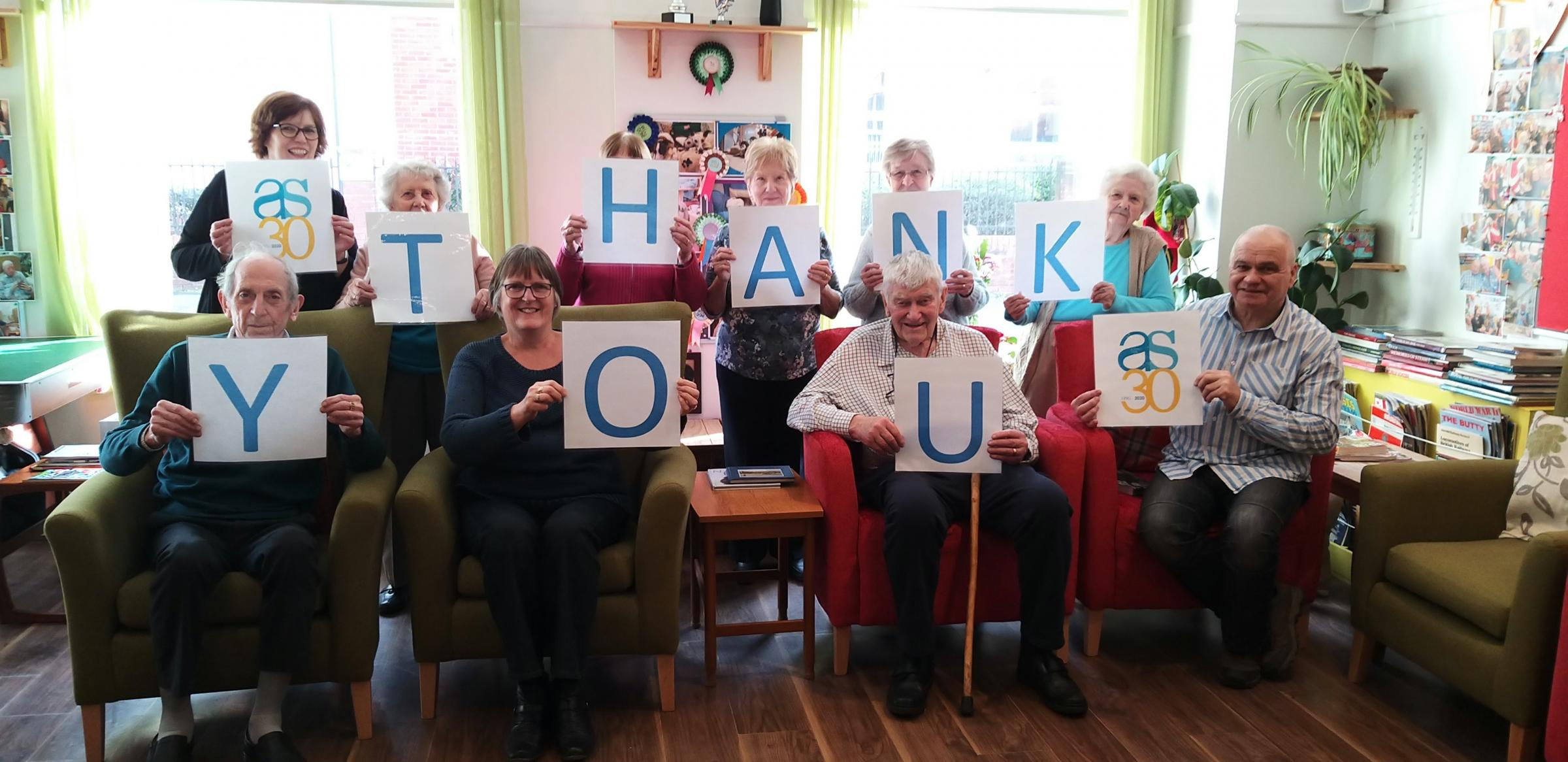 Alzheimer's Support charity say a huge thank you