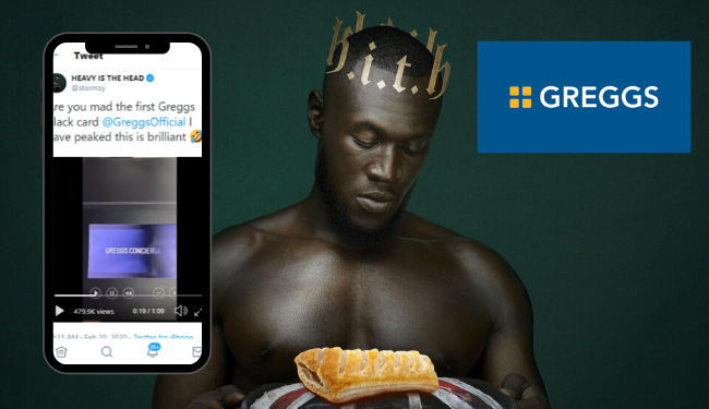 Stormzy gets Greggs 'black card' promising free pasties 'anytime, anywhere''