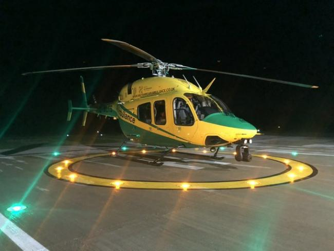 The Wiltshire Air Ambulance helicopter