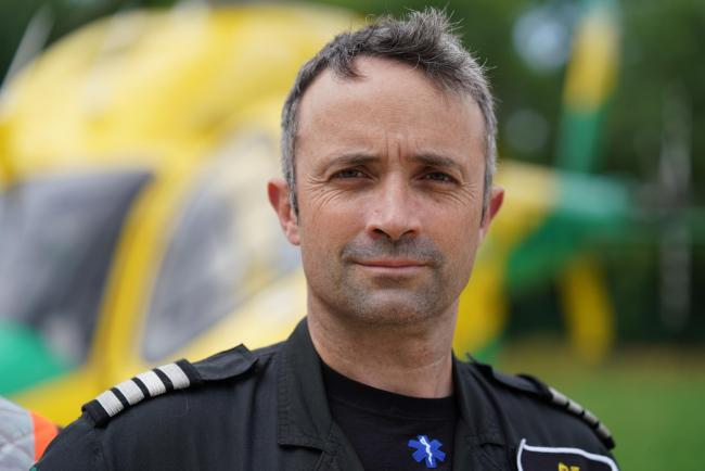 Matt Wilcock, chief pilot of Wiltshire Air Ambulance Photo: Terry Donnelly