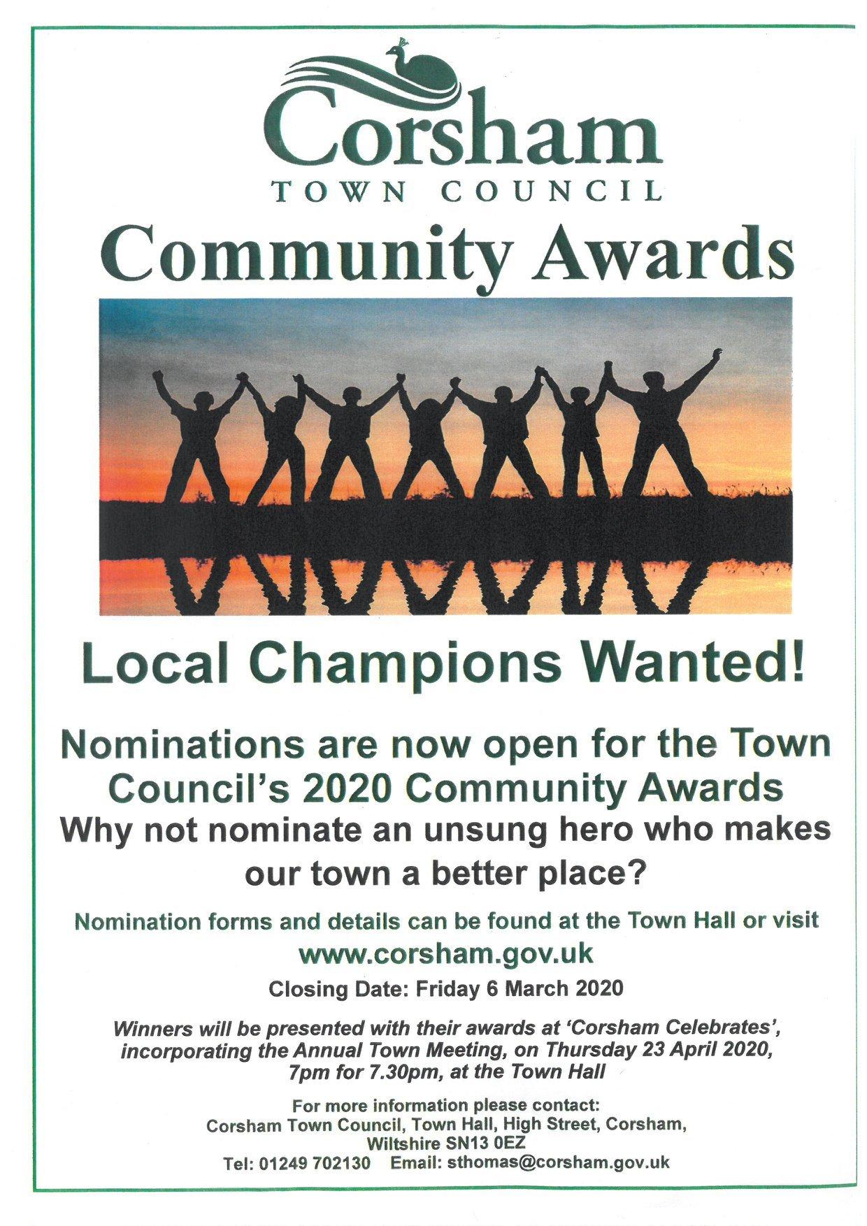 Corsham wants town heroes