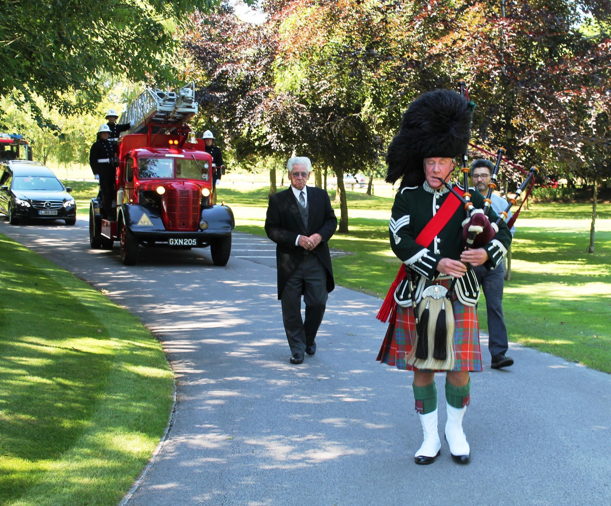 Full fire service honours for former chaplain
