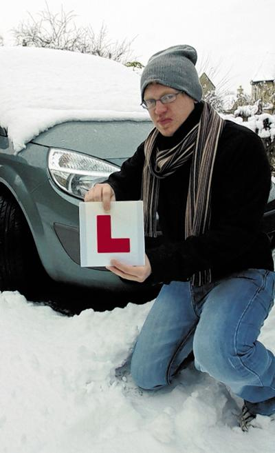 Sam Johnston of Bradford on Avon is still a learner after his driving test was cancelled