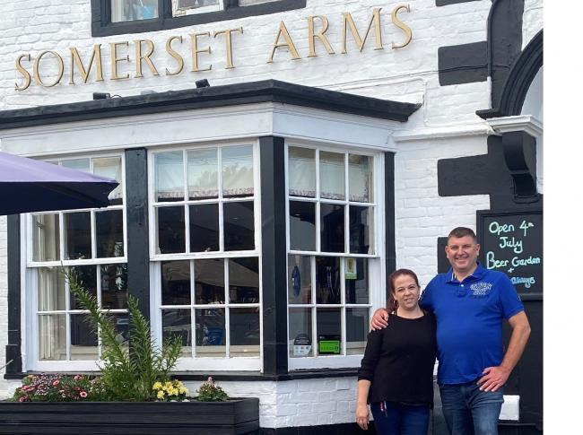 Somerset Arms landlord John and his staff are waiting to welcome you