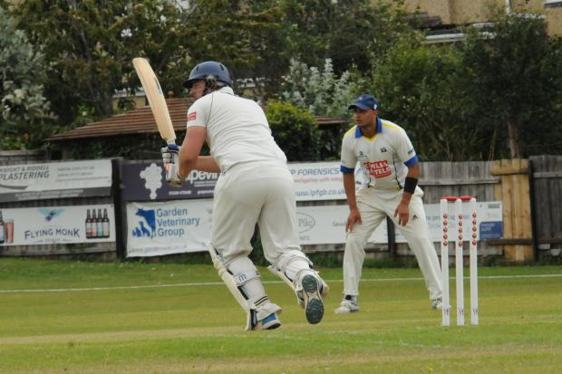 Cricket Chipp v Potterne Running up the score   Chippenham batsman  RalphHardwick   Photo Trevor Porter 67008 6