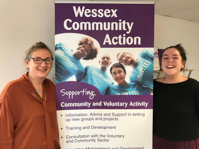 Pictured: Wessex Community Action Chief Executive Amber Skyring, left, and Community Support Worker Holly Jasper
