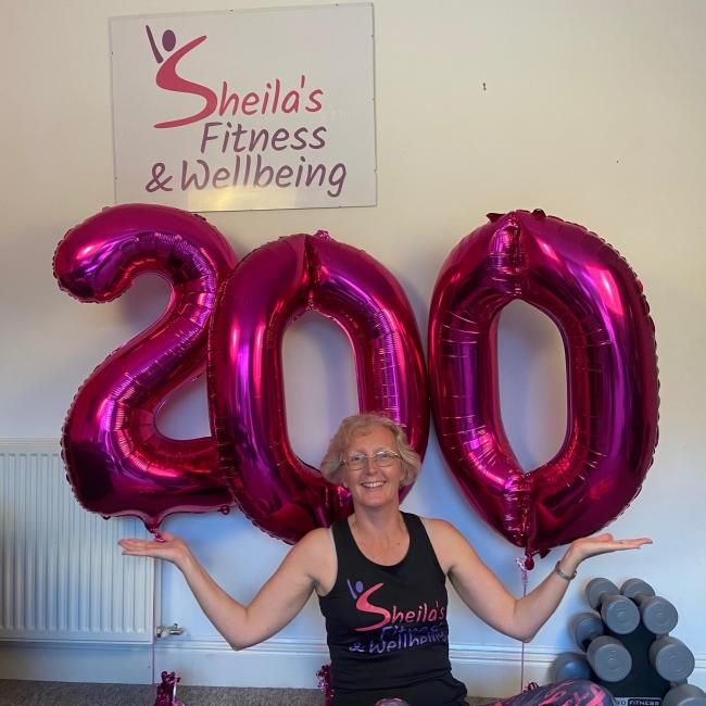 Zumba queen Sheila gets Chippenham pumped with 200 classes