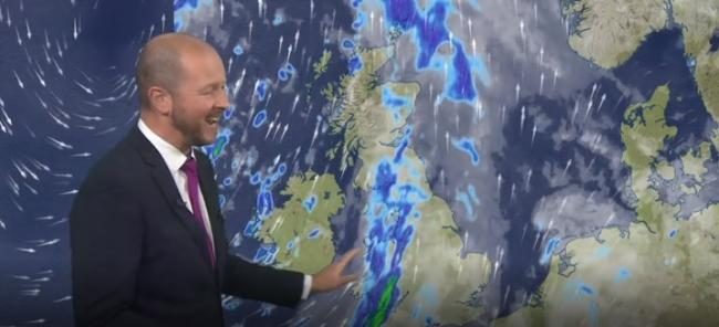 Saturday's weather will be wet and windy