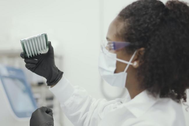A scientist working on the Moderna coronavirus vaccine