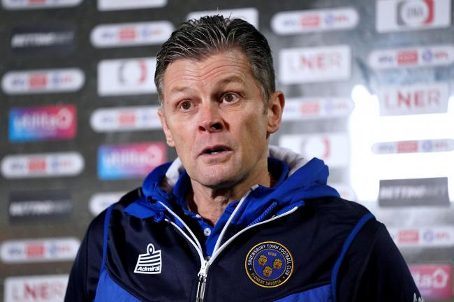 Shrewsbury manager Steve Cotterill has been hospitalised with coronavirus