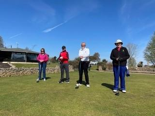 Kingsdown Golf Club four captains' Phil Hodges, Maura Coughlan, (Ladies) Gary Gale-Sides (Seniors) and George Sawyer (Juniors)