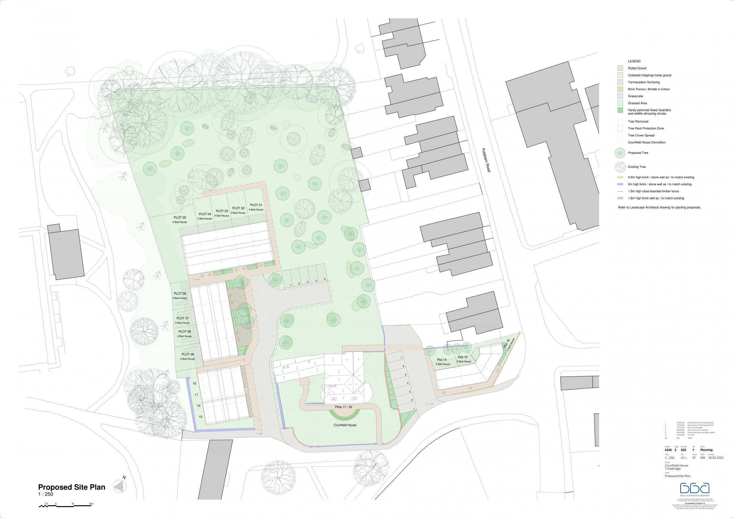 Proposed site plan for Courtfield House