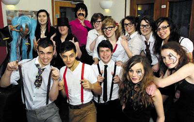 John of Gaunt School pupils prepare for their talent show