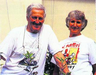Wiltshire Times: Antony and Althea Barrington-Brown pictured in 2001