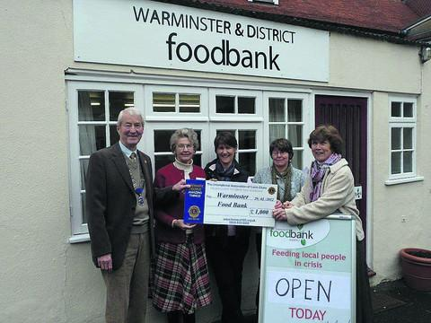 Volunteers at the Warminster Foodbank, which is supported by the Trussell Trust