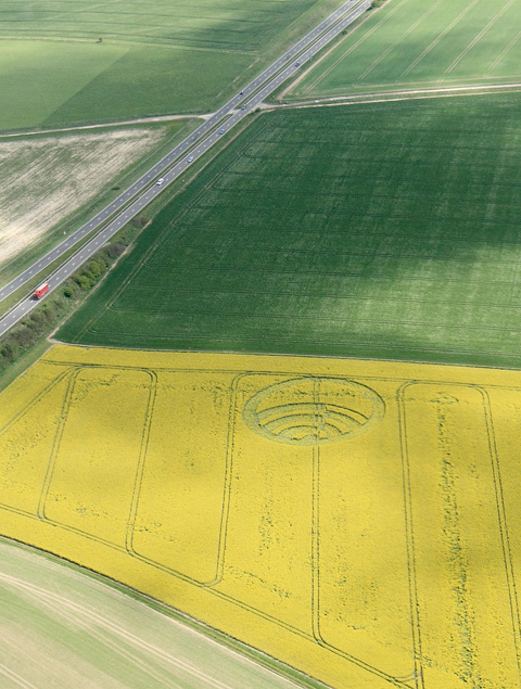 First Wiltshire crop circle of year arrives despite the weather at Stonehenge