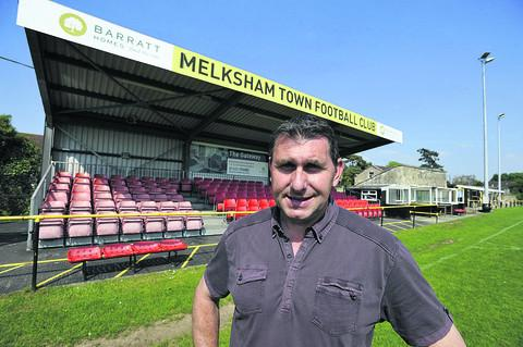 Wiltshire Times: Melksham Town FC chairman Dave Wiltshire at The Conigre, the home of the club since 1926