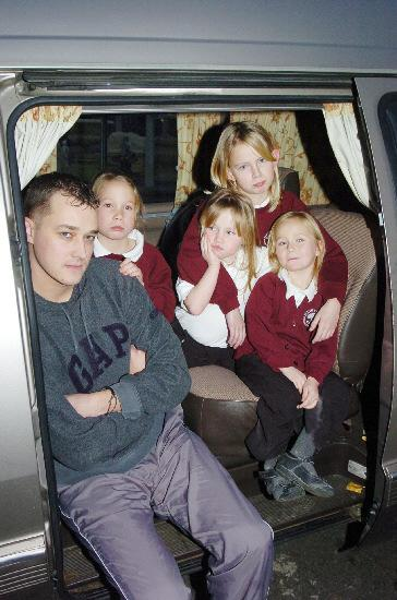 f3c125cf70b Thieves steal £150 Christmas presents. Chris Gill with his partner s  children Chloe