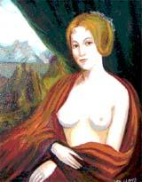 The Fallen Madonna with the Big Boobies, painted by fictional artist Van Clomp
