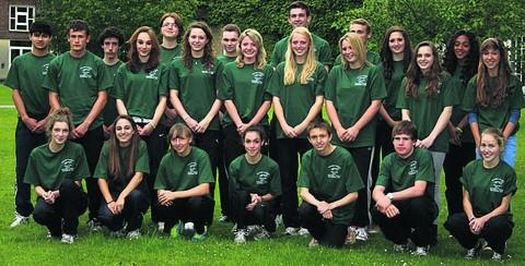 Wiltshire's team heading to the English Schools Championships this weekend at Monday's get-together at Devizes School