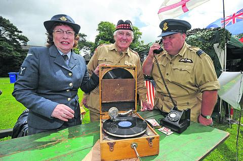 The Couldrakes of Westbury – Audrey, Ken and Tony – with their war memorabilia