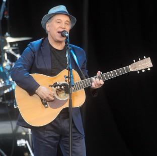 Paul Simon plays at the Hard Rock Calling music festival in London