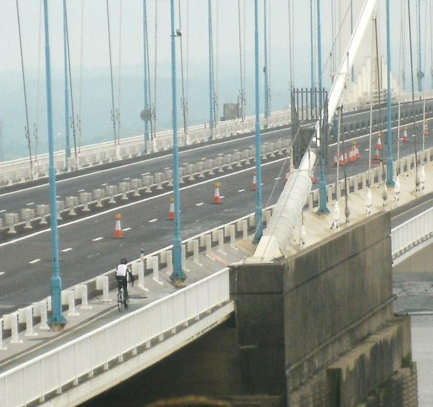The transporter was due to cross the Severn Bridge today