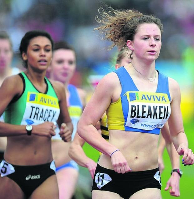 Loren Bleaken in action at the Aviva Grand Prix