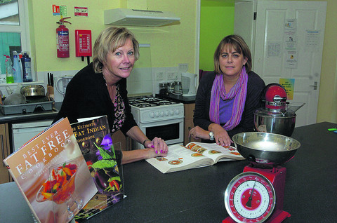 Wiltshire Times: Last year, a £5,490 grant from the Gannett Foundation was handed to Splitz, to help pay for cookery courses run by the charity in its new community kitchen. Pictured are project co-ordinators Hazel Rutland and Sue Pearce, left