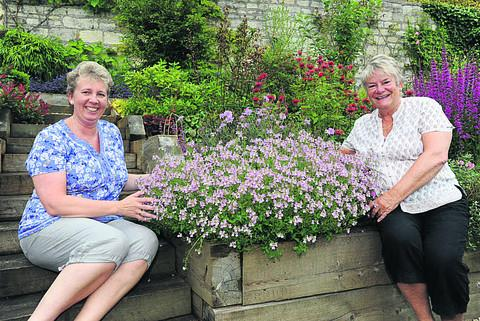 Best garden award winners Sally Wilson and Penny Hopwood of Rosemary Walk