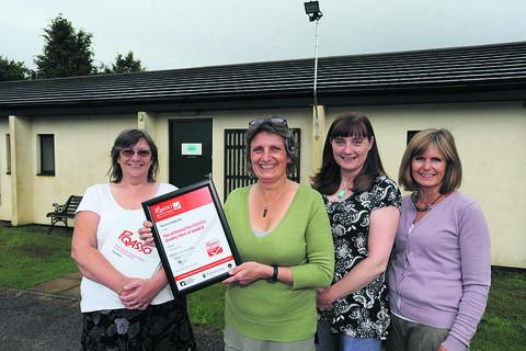 Wiltshire Times: Chief executive Linda Cantillon-Guyatt, with colleagues Carol Robbs, Kim Law and Margaret Harrison