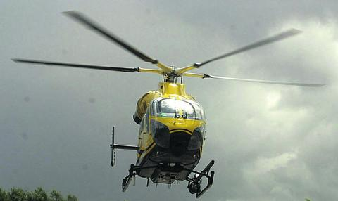 Gareth Cartwright pointed his laser pen at the Wiltshire Air Ambulance helicopter last November