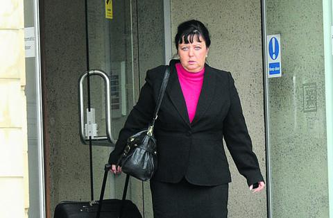 Wendy Coleman, who claimed to be a friend of Prince Philip and Simon Cowell, leaves court on Wednesday