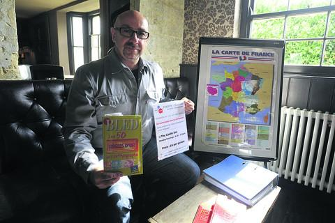 Gerard Navarro, who is teaching French in Bradford on Avon's pubs, as well as to the county's youngsters in schools
