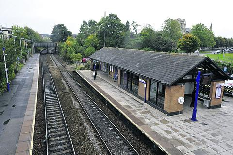Trowbridge Railway Station, scene of the fatality this morning