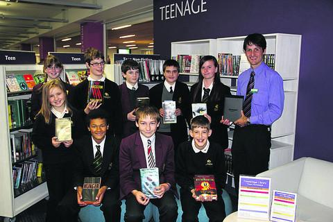 Students at the library for the draw were John of Gaunt's Gavin Brewerton, Georgina Davidson and Lewis Simpson, St Augustine's Euan Friel, Niall Ellis, Morgan McGowan and Sophie Rose, Clarendon's Carl Gardner, Jordan Sheldrake and Justin Laird, whil